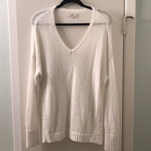 LOFT white knitted sweater